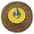 MESSING ŽIČNA ŠČETKA OKROGLA, D=60 MM
