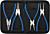 Klešče za varovalne (seger) obročke, 225mm, BGS
