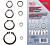 Seger obročki (varovala), zunanji - DIN471, set (300 kos, 3-32 mm)