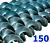 Polžna spirala 150 x 150 x 48 x 6/3