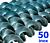 Polžna spirala 50 x 50 x 20 x 5/4 INOX