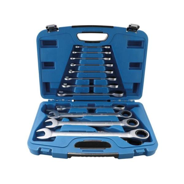 13-delni set viličasto obročnih ključev z ragljo, 8mm - 32mm; BGS