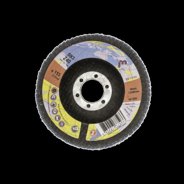 Lamelni brusni disk Profi 125 x 22 Z40 za JEKLO in INOX