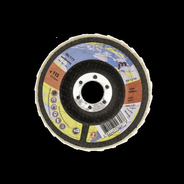 Lamelni brusni disk Premium 115 x 22 Filc, za JEKLO in INOX