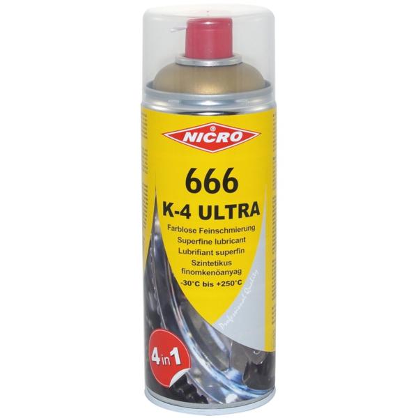 NICRO 666 K4 ULTRA,mazalni in zaščitni sprej, 400ml