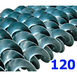 Polžna spirala 120 x 120 x 34 x 6/3