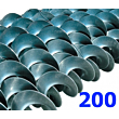 Polžna spirala 200 x 200 x 60,3 x 6/3