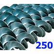 Polžna spirala 250 x 250 x 60,3 x 6/3