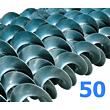Polžna spirala 50 x 50 x 17,2 x 4/2