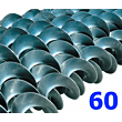 Polžna spirala 60 x 60 x 21,3 x 3/1,7