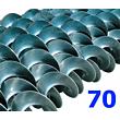 Polžna spirala 70 x 70 x 30 x 4
