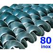 Polžna spirala 80 x 80 x 40 x 4 INOX